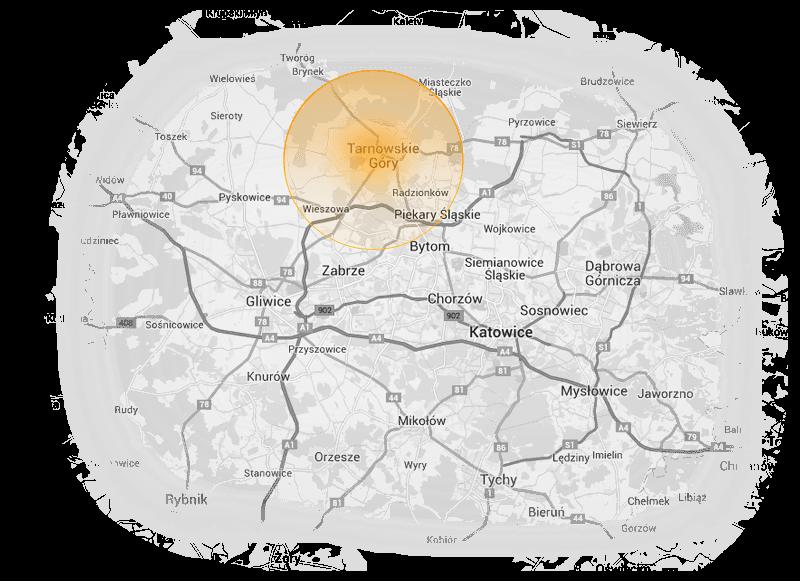 Mapa Tarnowskich Gór