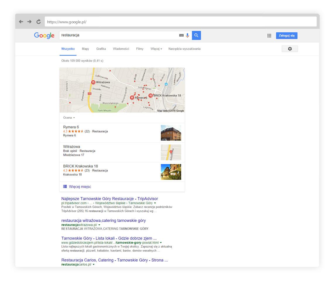 Lokalny wynik wyszukiwania